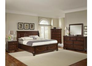 Reflections Queen Storage Bed, Dresser & Mirror,Vaughan-Bassett