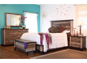 Antique Queen Bed,International Furniture Direct