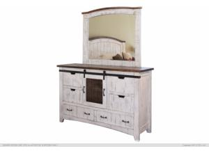 Pueblo White Dresser,International Furniture Direct