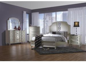 Hollywood Glitz Queen Bed,Avalon Furniture