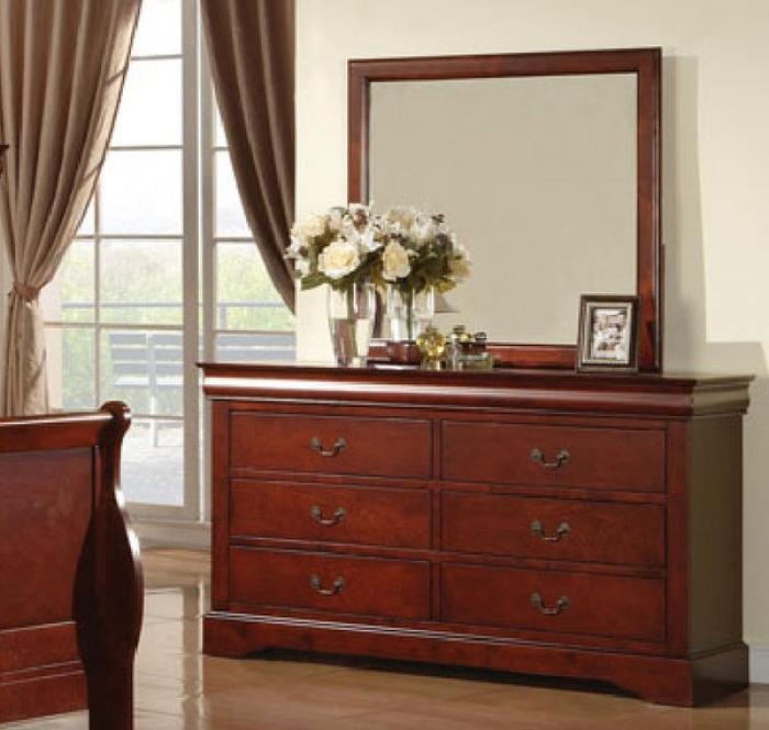 Louis Phillip Dresser/Mirror - 9180 Masters,Discount furniture