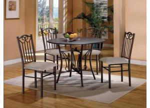 5pc Hayes Dinette - 1223 C.M.,Discount furniture