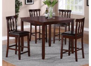 5pc soledad pub table cmdiscount furniture