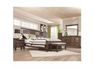 Franco Collection Q Bed, Dresser/Mirror, & Chest,Coaster Fine Furniture