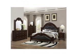 4126 Bordeaux Queen Bed w/ Dresser/Mirror/Chest,Discount furniture