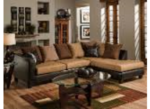 Brown Bicast Sectional,Discount furniture