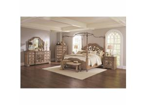 Ilana Collection Q Canopy Bed, Dresser/Mirror, & Chest,Coaster Fine Furniture