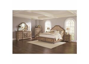 Ilana Collection Q Bed, Dresser/Mirror, & Chest w/ storage,Coaster Fine Furniture