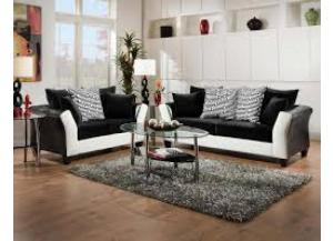 Black & White - Sofa/Love ,Discount furniture