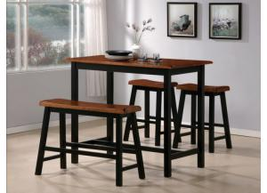 4pc counter height pub cmdiscount furniture