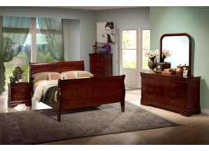 Louis Phillip Queen Bed Set - 9180 Masters,Discount furniture
