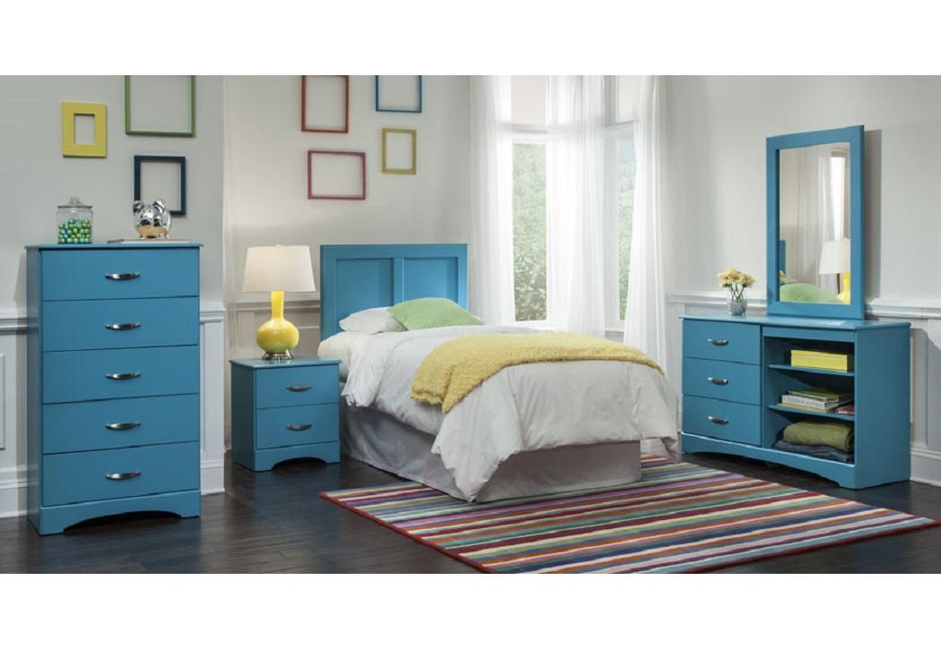 Bargain Furniture Turquoise Full Queen Headboard Dresser