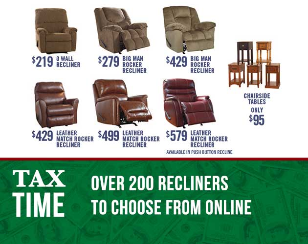 OVER 200 RECLINERS TO CHOOSE FROM ONLINE