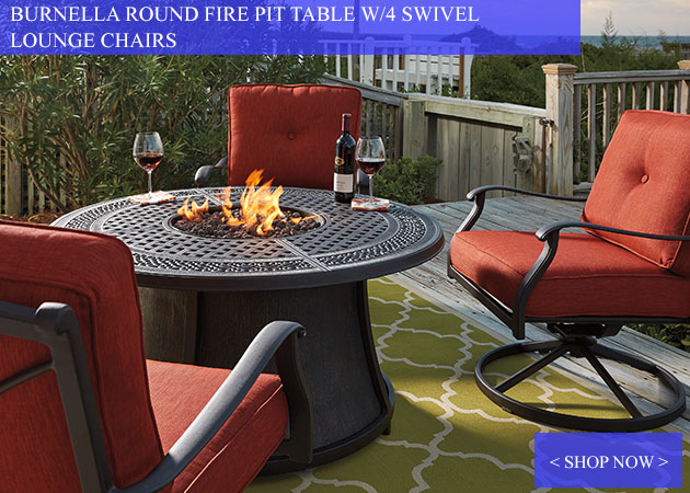 Burnella Outdoor Firepit with Chairs