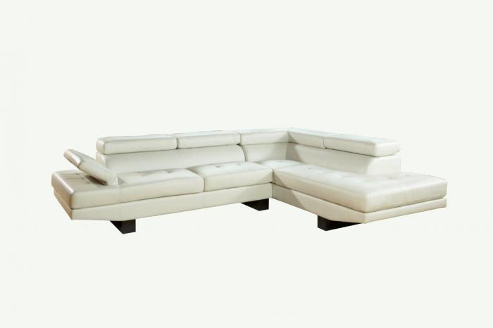 9355 White 2pc Sectional,Life style