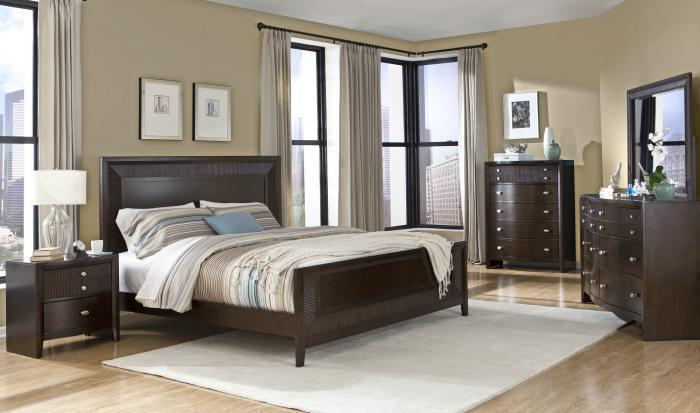 3112 Queen bed Dresser & Mirror ,Life style