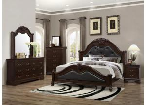 4126 King bed, dresser & mirror