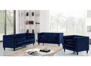 642 Navy Sofa and Loveseat