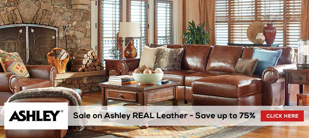 Sale on Ashley REAL leather