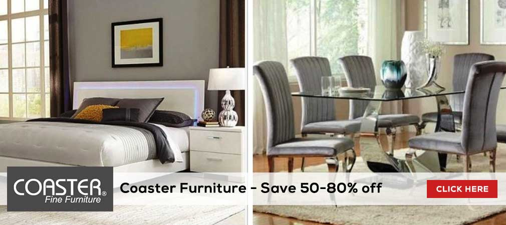 Save 50-80% on Coaster Furniture