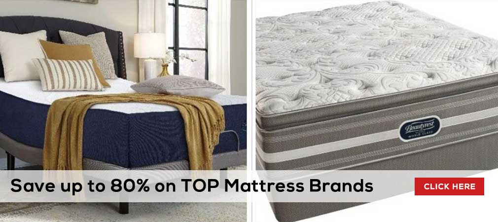 Save up to 80% on top mattress brands