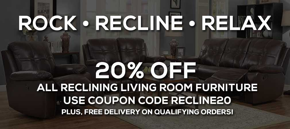 20% off reclining living room