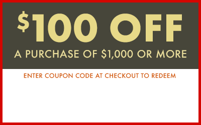 $100 Off a $1000 or more