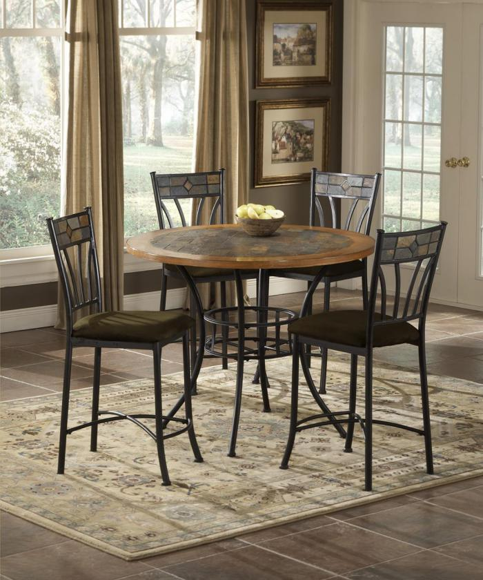 5 Piece dining set Rock wood/stone,Brandywine Showcase