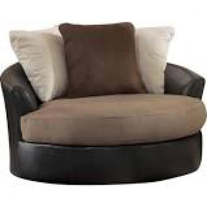 Masoli Mocha Swivel Chair ,Brandywine Showcase