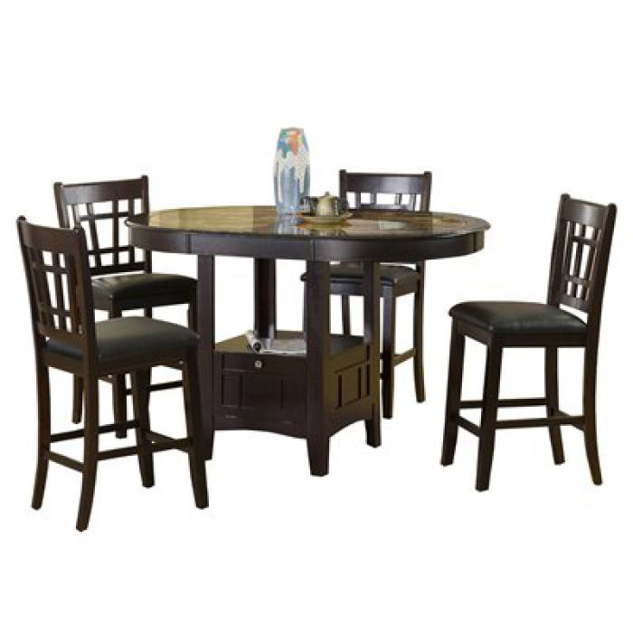 Charleston Counter Height w/ 4 stools,Brandywine Showcase