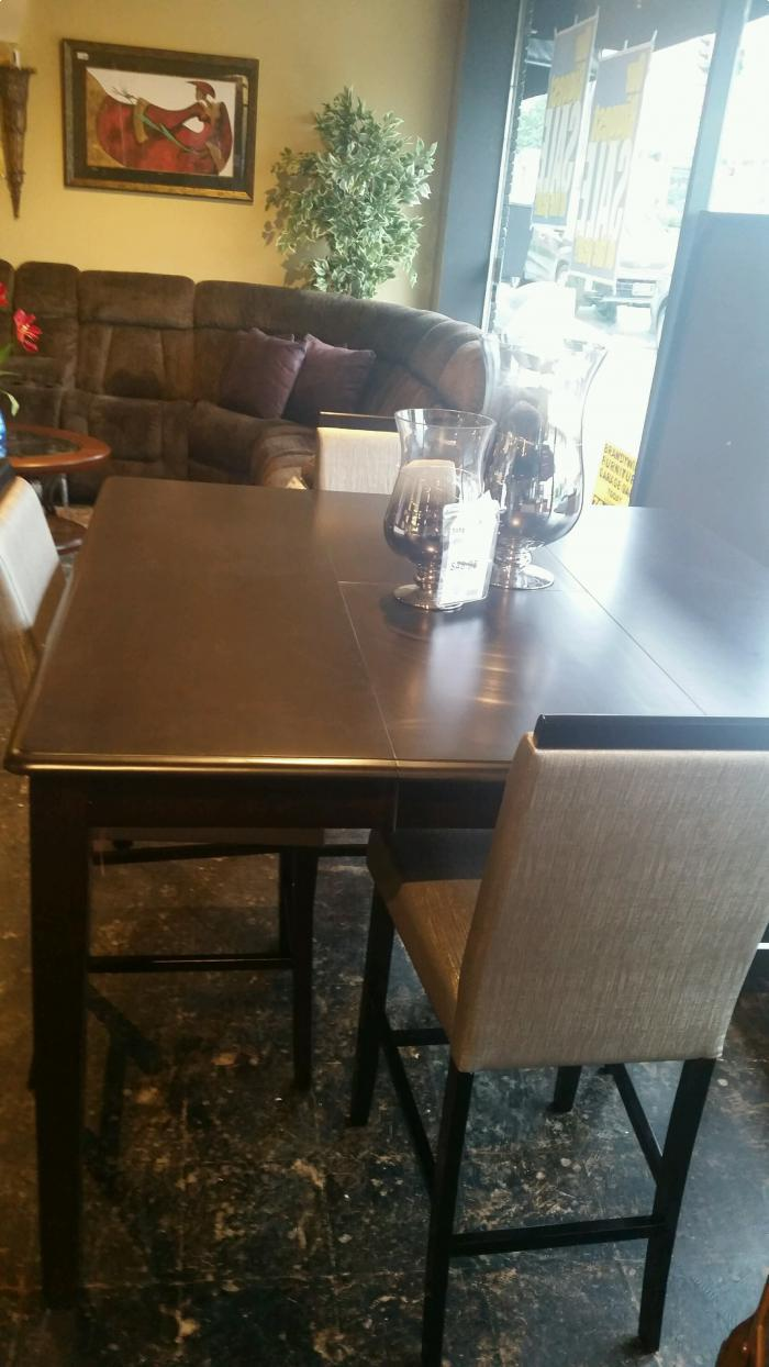 5 Piece Counter Height  Butterfly Leaf Table/4 Upholstered stools,Brandywine Showcase