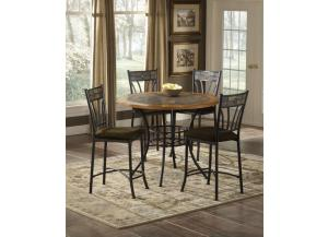 5 Piece dining set Rock wood/stone