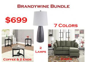 BUNDLE / Darcy Chofa / 2 Lamps / Cocktail & 2 Ends