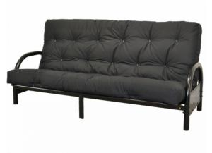 Futon Black Metal with Mattress