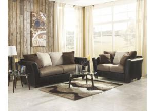 Masoli Mocha Sofa and Love