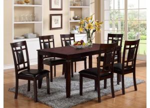7 Piece Dining Set Merlot