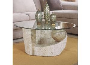 Ponte Verde White Fossil Cocktail Table