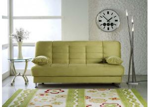 Vegas Rainbow Green Futon With Storage