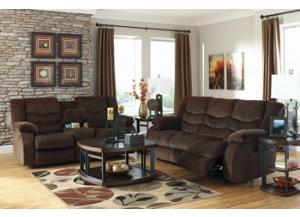 Garek Cocoa Reclining Sofa and Love