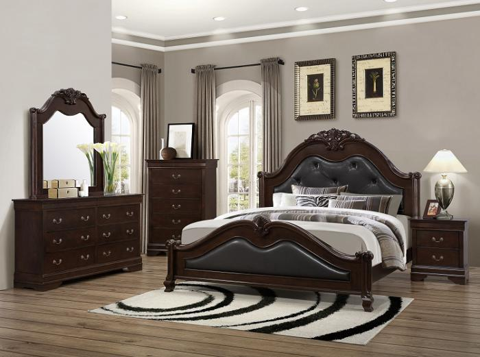 4126 Queen Bed with Dresser  Mirror   1 Nightstand Lifestyle. Brothers Fine Furniture 4126 Queen Bed with Dresser  Mirror   1