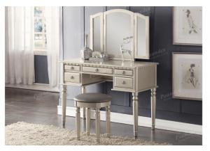 F4079 Silver Vanity With Stool