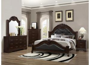 4126 Queen Bed with Dresser, Mirror & 1 Nightstand