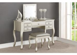 F4145 Silver Vanity With Stool
