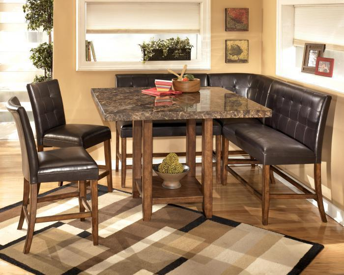 Ashley 6pc Lacey Counter Height Dining Set w/ Booth,Ashley Clearance