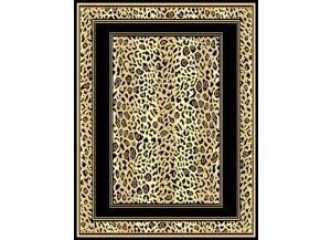 Leopard Print Boarder Rug