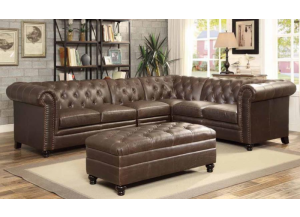 Coaster Cappuccino Sectional