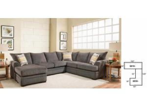 American Perth Smoke 3pc Sectional