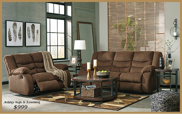 986 Tulen Gray Sofa and loveseat