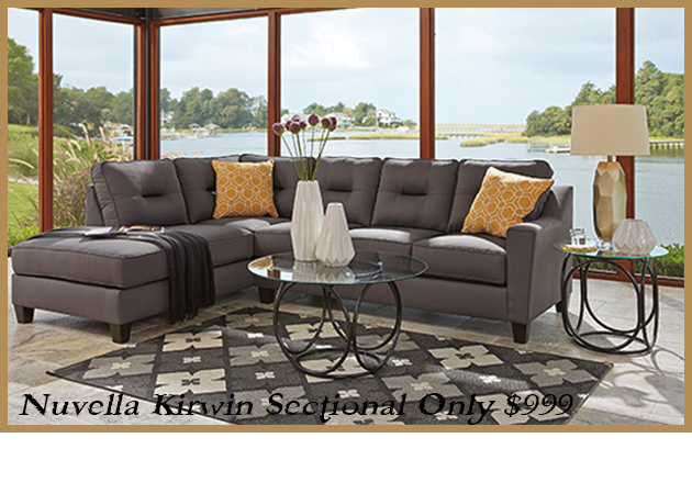 Nuvella Kirwin Gray Sectional