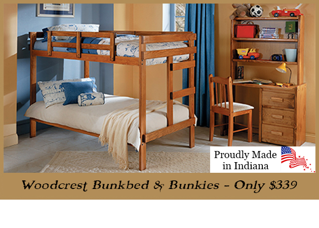 Woodcrest 2x4 Bunkbed